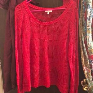 Eileen Fisher red light sweater